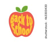 apple back to school  icon.  | Shutterstock . vector #463303430