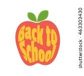 apple back to school  icon.  | Shutterstock . vector #463303430