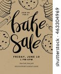 bake sale card template design... | Shutterstock .eps vector #463304969