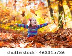 Happy Little Girl Playing In...