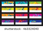 vector geometric and modern... | Shutterstock .eps vector #463324040