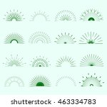 retro sun burst shapes. vintage ... | Shutterstock .eps vector #463334783