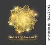 triangular geometric shape... | Shutterstock .eps vector #463337768