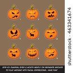 vector icons of jack o lantern... | Shutterstock .eps vector #463341674