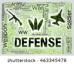defense words representing... | Shutterstock . vector #463345478
