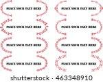 calligraphic design elements... | Shutterstock .eps vector #463348910