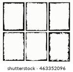 grunge frames set.grunge border ... | Shutterstock .eps vector #463352096