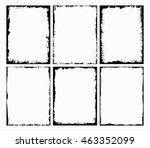 Stock vector grunge frames set grunge border frame vector illustration 463352099
