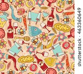 seamless pattern with the... | Shutterstock .eps vector #463360649