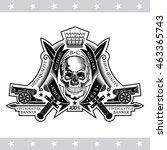 skull front view between...   Shutterstock .eps vector #463365743