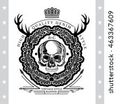 skull front view without a... | Shutterstock .eps vector #463367609