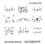 cat sketch illustration set | Shutterstock .eps vector #463380959
