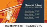 graphic template of classical... | Shutterstock .eps vector #463381340