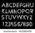 handwritten calligraphic.... | Shutterstock . vector #463383458