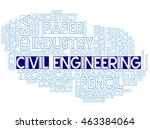 civil engineering meaning... | Shutterstock . vector #463384064