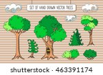 editable set of hand drawn... | Shutterstock .eps vector #463391174