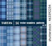 set tartan seamless pattern.... | Shutterstock .eps vector #463392254