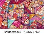 patchwork pattern. vintage... | Shutterstock .eps vector #463396760