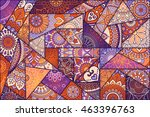 patchwork pattern. vintage... | Shutterstock .eps vector #463396763