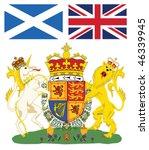 scottish royal coat of arms... | Shutterstock .eps vector #46339945