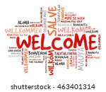 welcome word cloud in different ... | Shutterstock .eps vector #463401314
