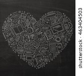 chalkboard vector hand drawn... | Shutterstock .eps vector #463404503