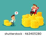happy businessman sit on... | Shutterstock .eps vector #463405280
