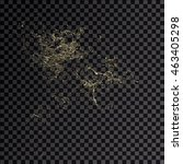 splash gold 3d transparent... | Shutterstock . vector #463405298