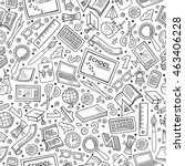 cartoon cute hand drawn back to ... | Shutterstock .eps vector #463406228