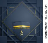 islamic greeting card template... | Shutterstock .eps vector #463407734