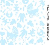 seamless pattern with baby... | Shutterstock .eps vector #463407968