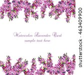 lavender card border vector.... | Shutterstock .eps vector #463409900