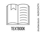 textbook icon or logo line art...