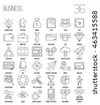 business icons. start up and... | Shutterstock .eps vector #463415588