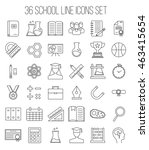 education and back to school... | Shutterstock .eps vector #463415654