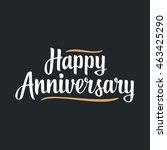 happy anniversary. black... | Shutterstock .eps vector #463425290