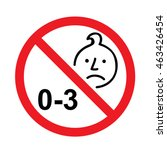 choking hazard warning vector... | Shutterstock .eps vector #463426454