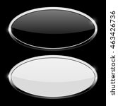 oval button with chrome frame.... | Shutterstock .eps vector #463426736