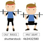 characters of healthy people in ... | Shutterstock .eps vector #463432580
