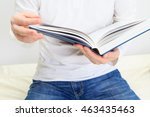 man reading a book | Shutterstock . vector #463435463