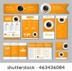 set of yellow white corporate... | Shutterstock .eps vector #463436084