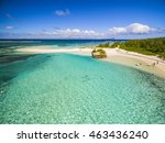 mauritius beach aerial view of... | Shutterstock . vector #463436240