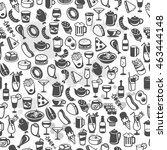 icons of different food and... | Shutterstock .eps vector #463444148