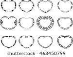 heart shape border   Shutterstock .eps vector #463450799