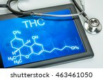 tablet with the chemical... | Shutterstock . vector #463461050