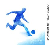 professional football player... | Shutterstock .eps vector #463466300