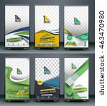 set of roll up banner stand... | Shutterstock .eps vector #463470980