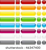blank web buttons. vector... | Shutterstock .eps vector #46347400