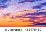 setting sun fiery heaven  | Shutterstock . vector #463475480