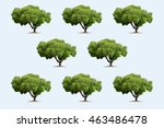 eight three in the soft blue... | Shutterstock . vector #463486478